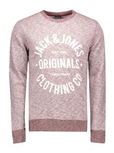 jorclemens sweat crew neck noos 12112149 jack & jones sweater syrah