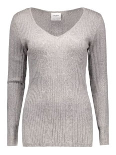 vmnimbo ls deep v-neck blouse dnm a 10157961 vero moda trui light grey melange