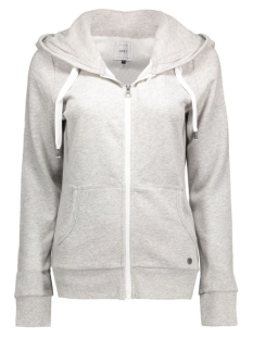 onlFINLEY LS ZIP HOOD NOOS 15121457 Light Grey Melange