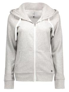 onlfinley ls zip hood noos 15121457 only vest light grey melange