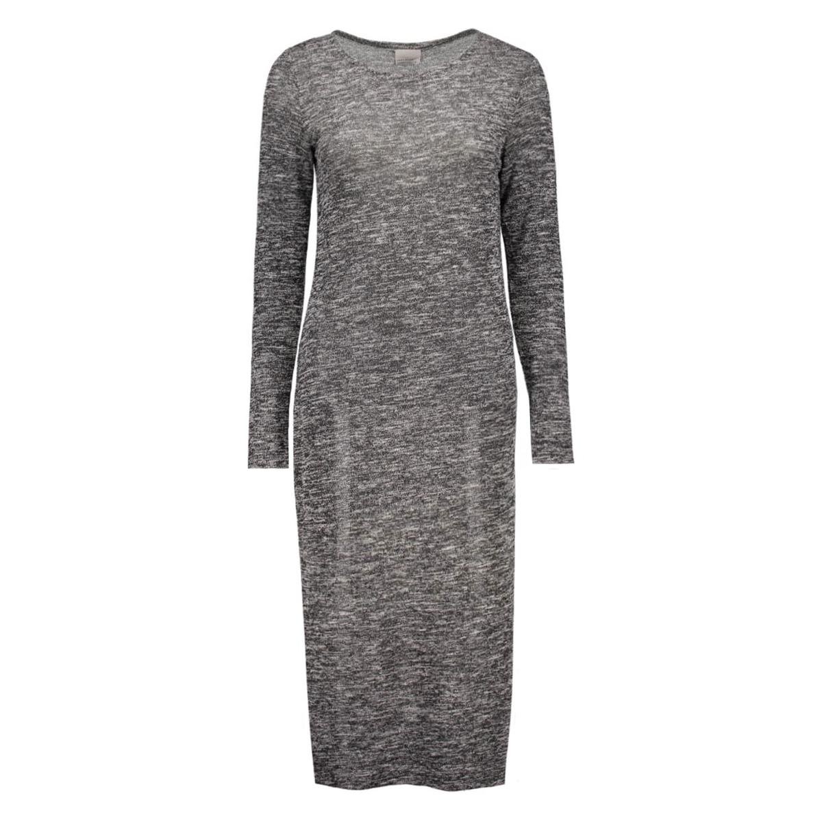vmscotty ls long dress 10159461 vero moda jurk black/snow