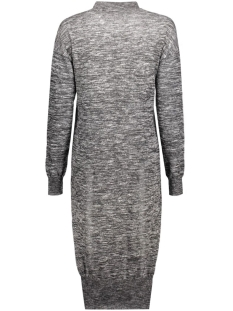nmcrow l/s high neck long dress knit 10155493 noisy may jurk black/with snow