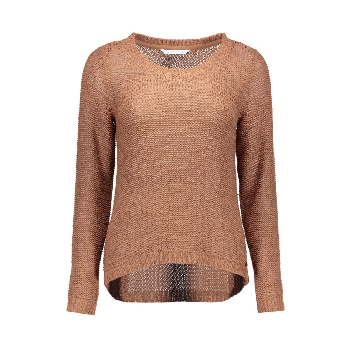 onlgeena xo l/s pullover knt noos 15113356 only trui cognac