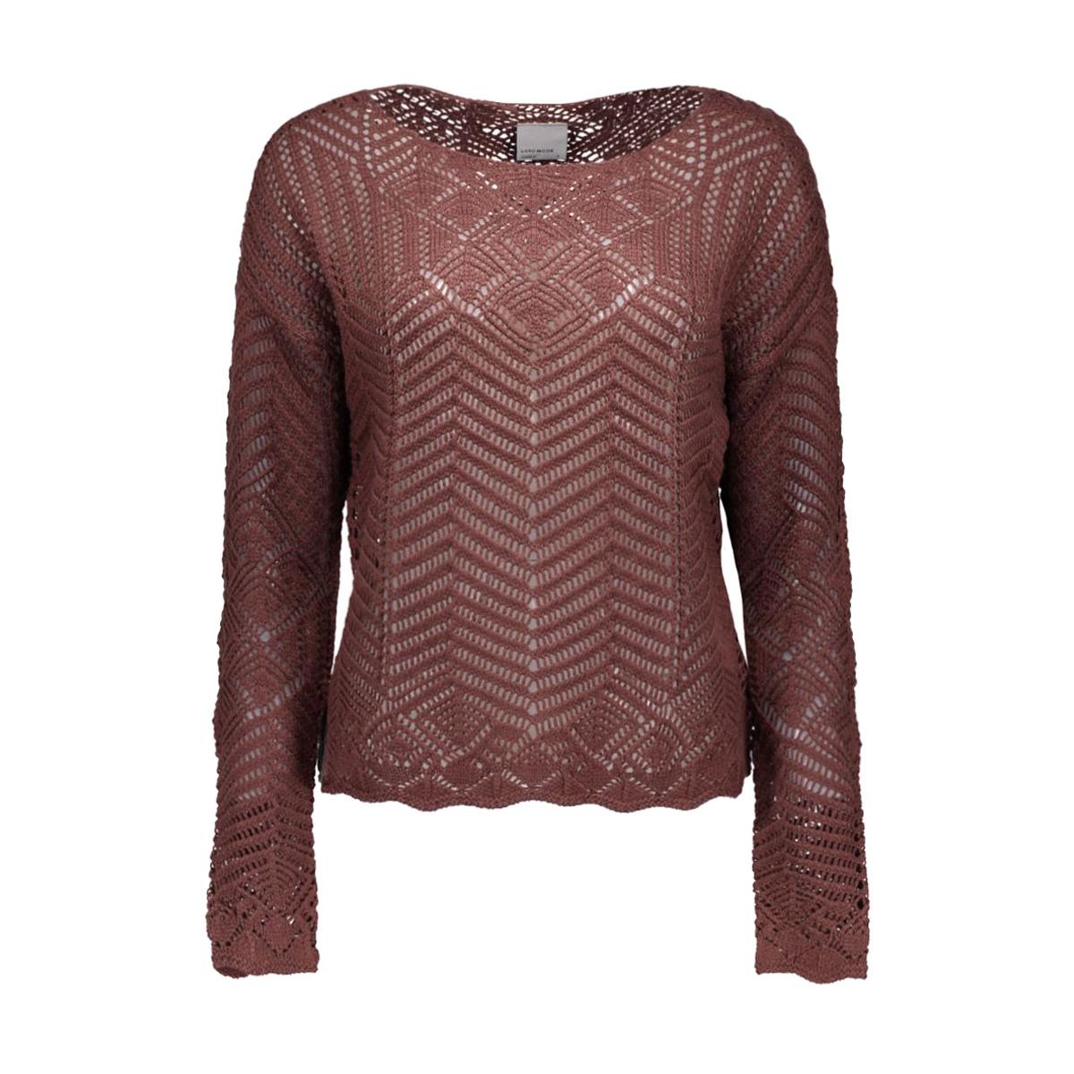 vmpenelope ls blouse t 10157941 vero moda trui decadent chocolate