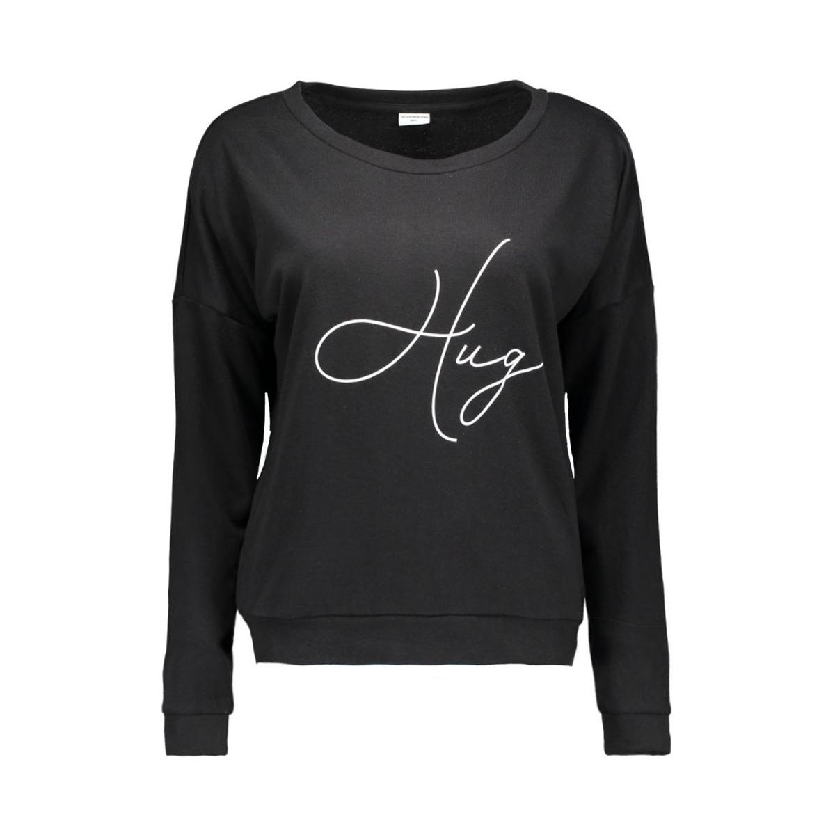 jdynewton l/s print sweat jrs 15120430 jacqueline de yong sweater black/hug