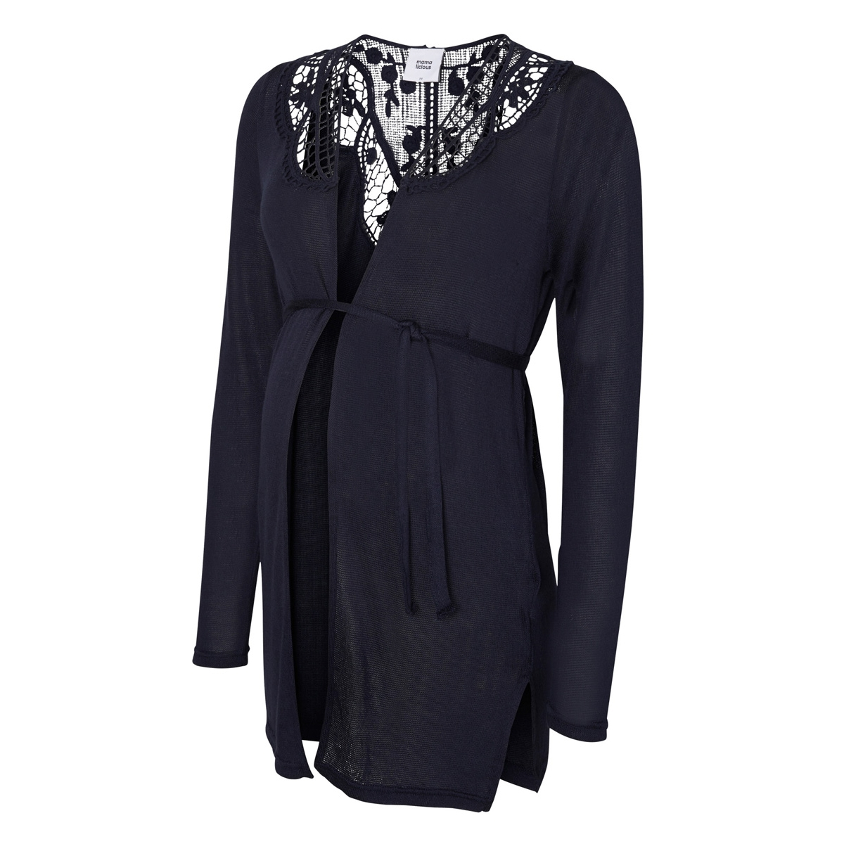 mlcardi l/s jersey cardigan 20006523 mama-licious positie vest navy blazer