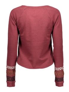 vmjada ls cropped  sweat dnm swt 10162876 vero moda sweater decadent chocolate/melange w.
