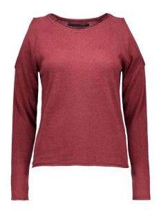 onlnew misty peak l/s pullover knt 15121620 only trui syrah/w. black m