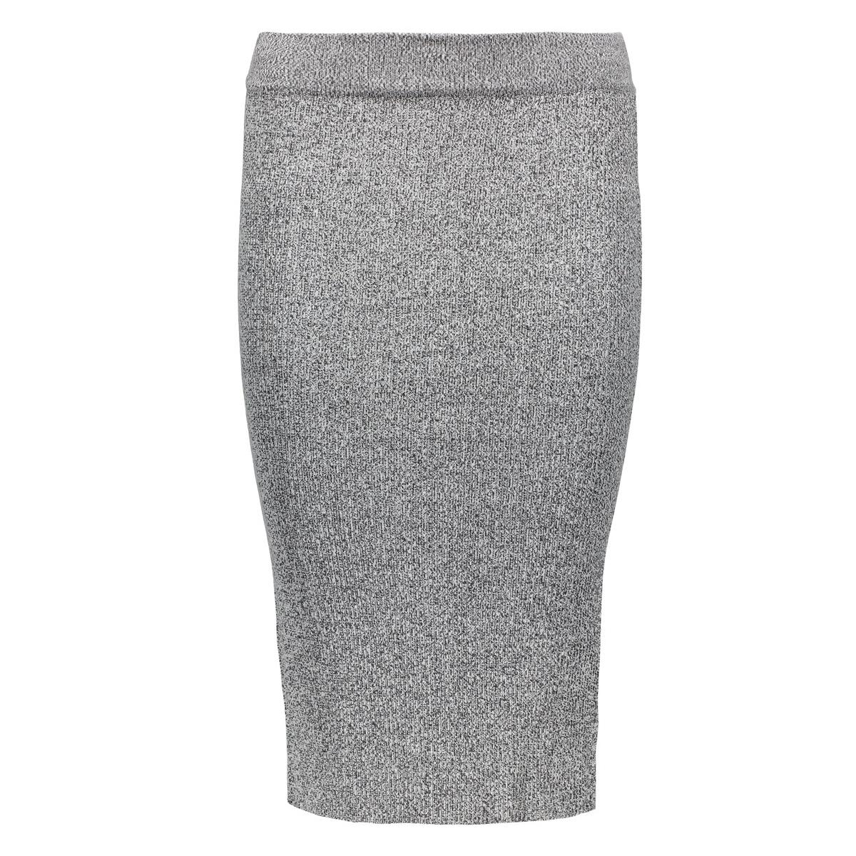 onlsacramento long pencil skirt knt 15122503 only rok dark grey melange