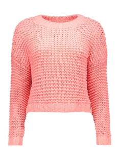 NMCHI L/S O-NECK KNIT TOP 10162084 Salmon Rose