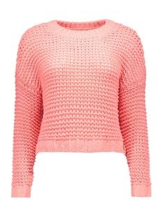 nmchi l/s o-neck knit top 10162084 noisy may trui salmon rose