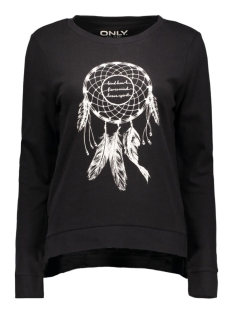 onlMICKA L/S O-NECK PRINT TOP BOX 15123812 Black/Dream Catcher