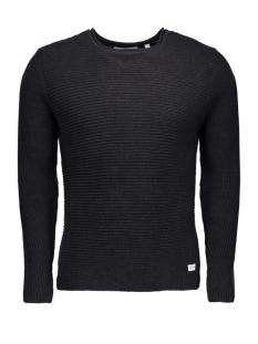 onssato twist knit noos 22004083 only & sons trui dark navy