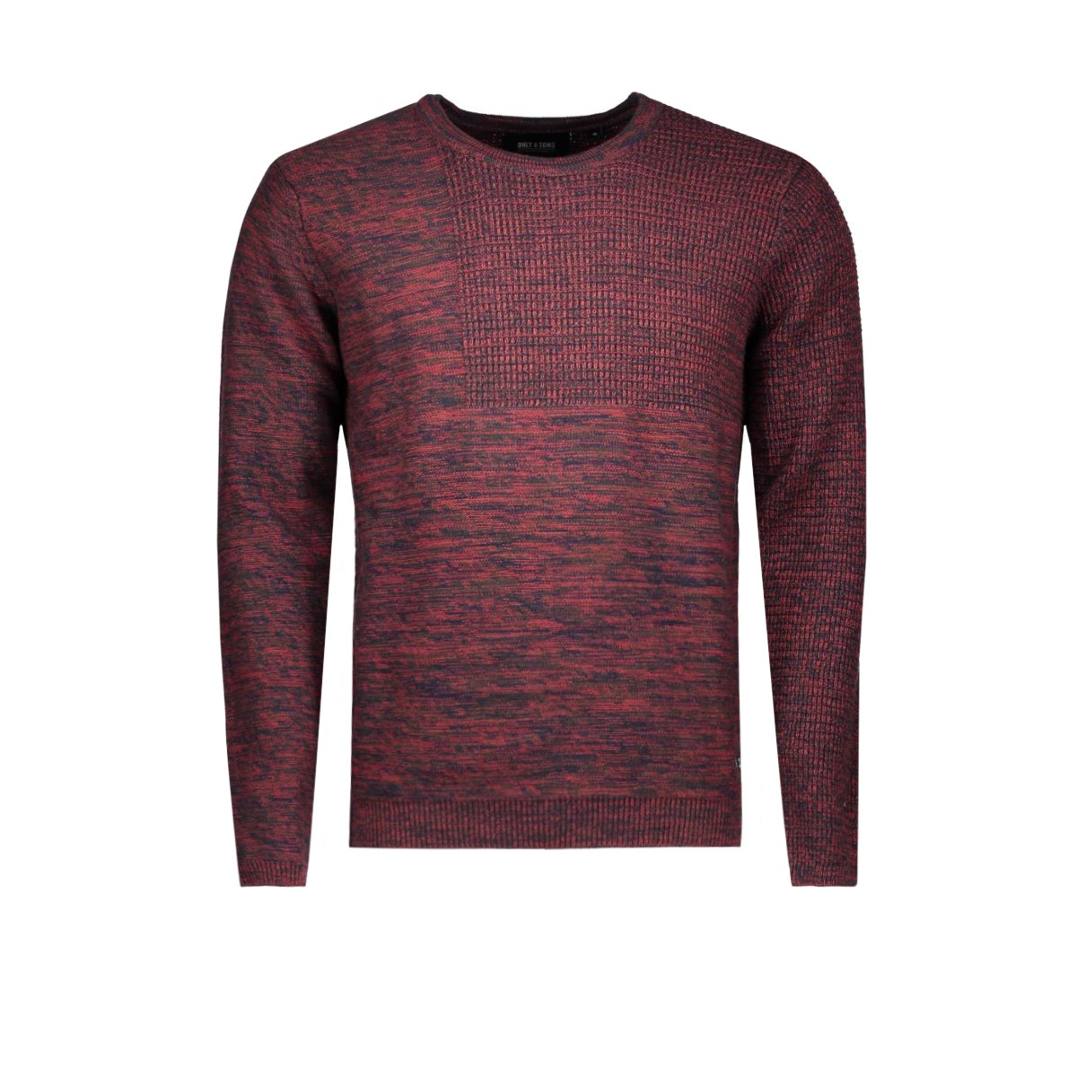 onsduncan crew neck knit 22004118 only & sons trui rosewood