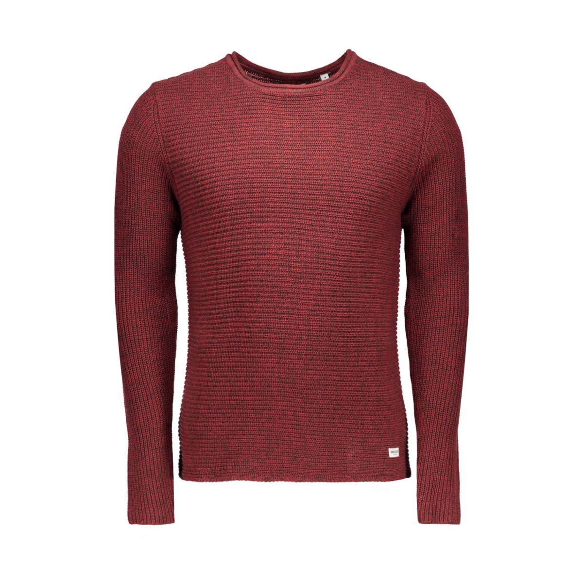 onssato twist knit noos 22004083 only & sons trui rosewood