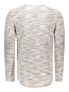 onsslub curve crew neck exp 22003892 only & sons trui off white melange