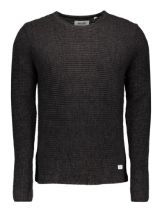 onssato twist knit noos 22004083 only & sons trui black