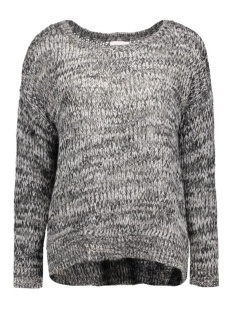 vmsiggy ls boatneck blouse dnm a 10158680 vero moda trui black/a sh/snow w