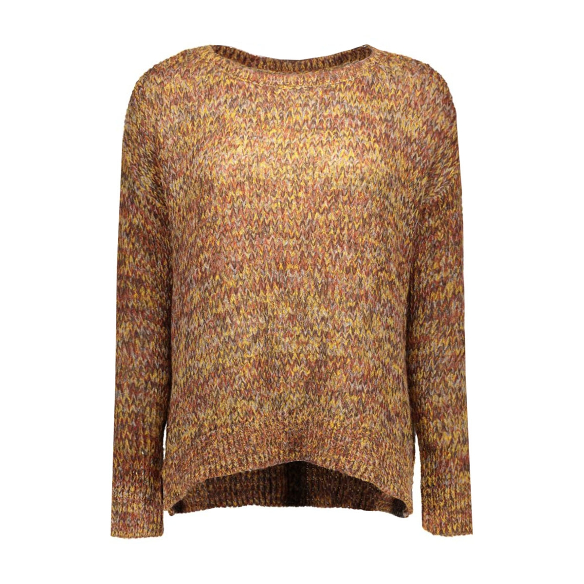 vmsiggy ls boatneck blouse dnm a 10158680 vero moda trui black coffee/w.mgm/fir