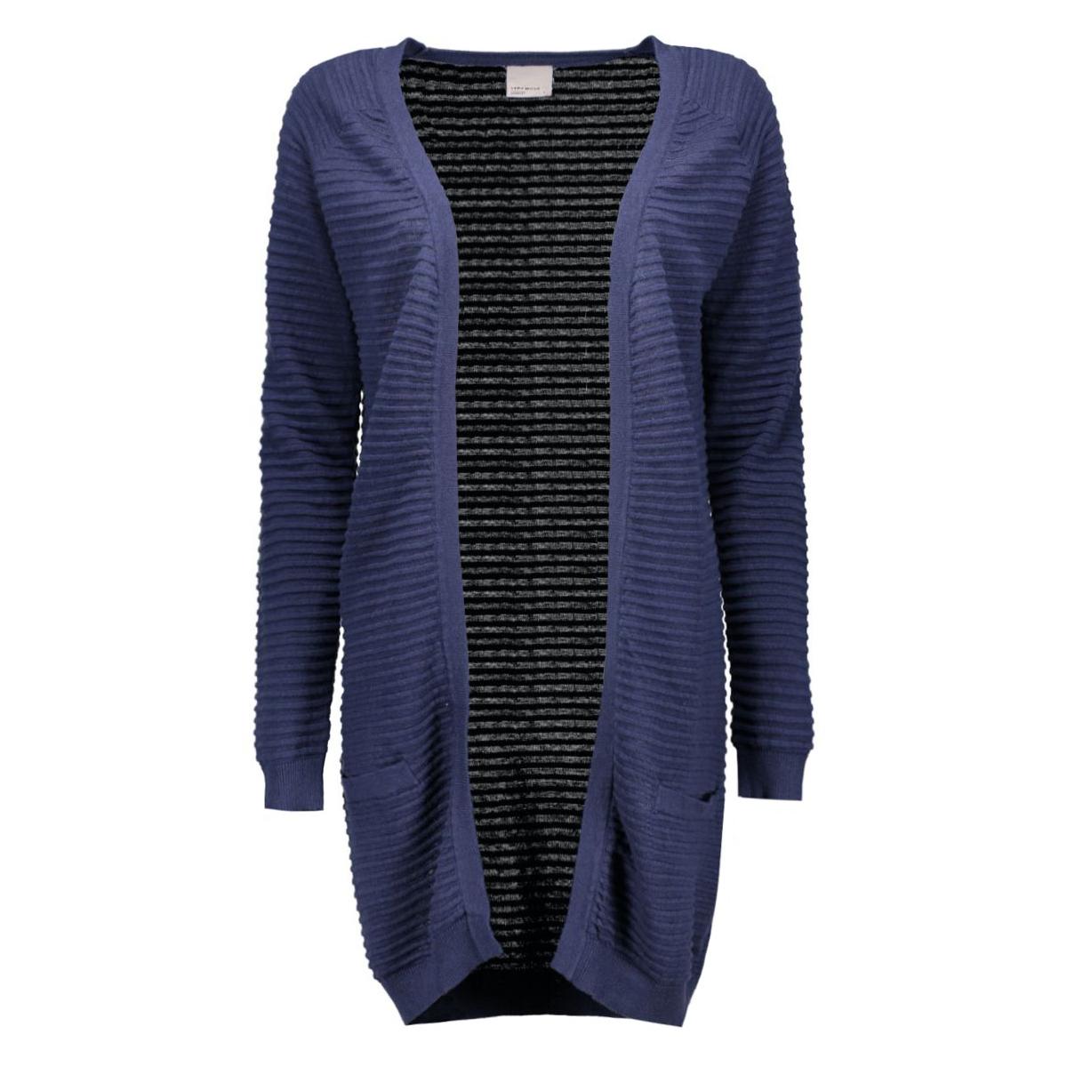 vmforever nice ls long cardigan noos 10165417 vero moda vest black iris