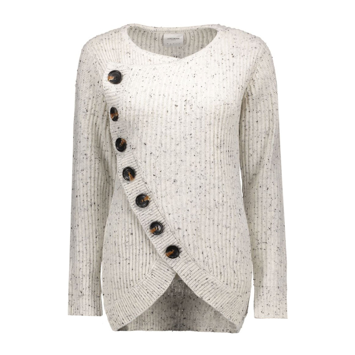 vmkeiko neps grand ls cardigan dnm 10161473 vero moda vest snow white/w. black