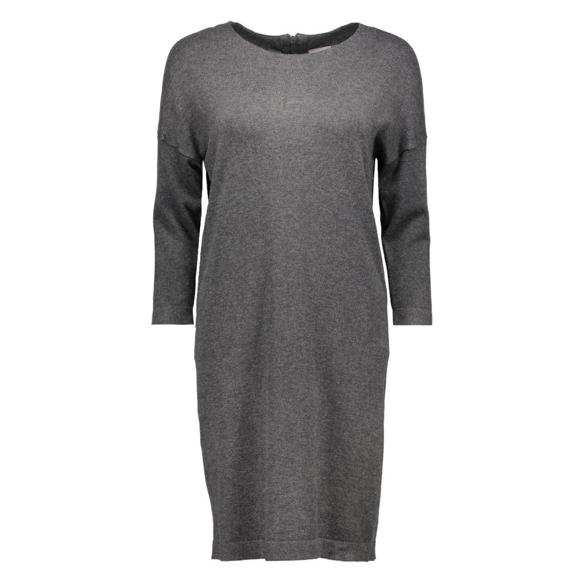 vmglory vipe aura 3/4 dress noos 10137034 vero moda jurk dark grey melange