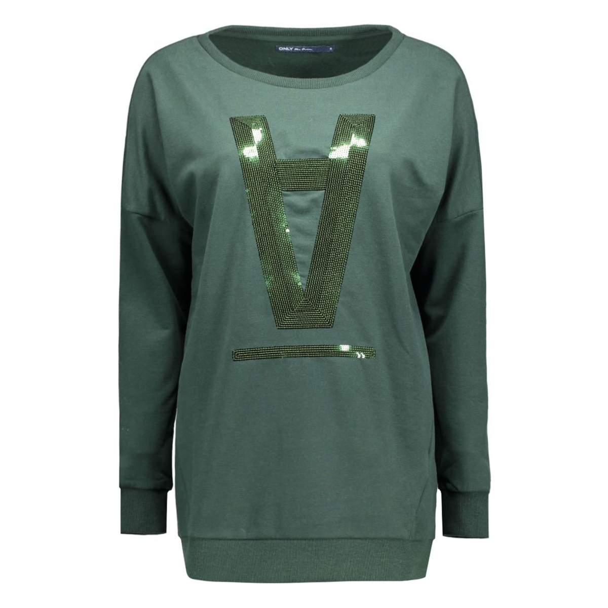 onlstella amour l/s o-neck box swt 15123802 only sweater scarab