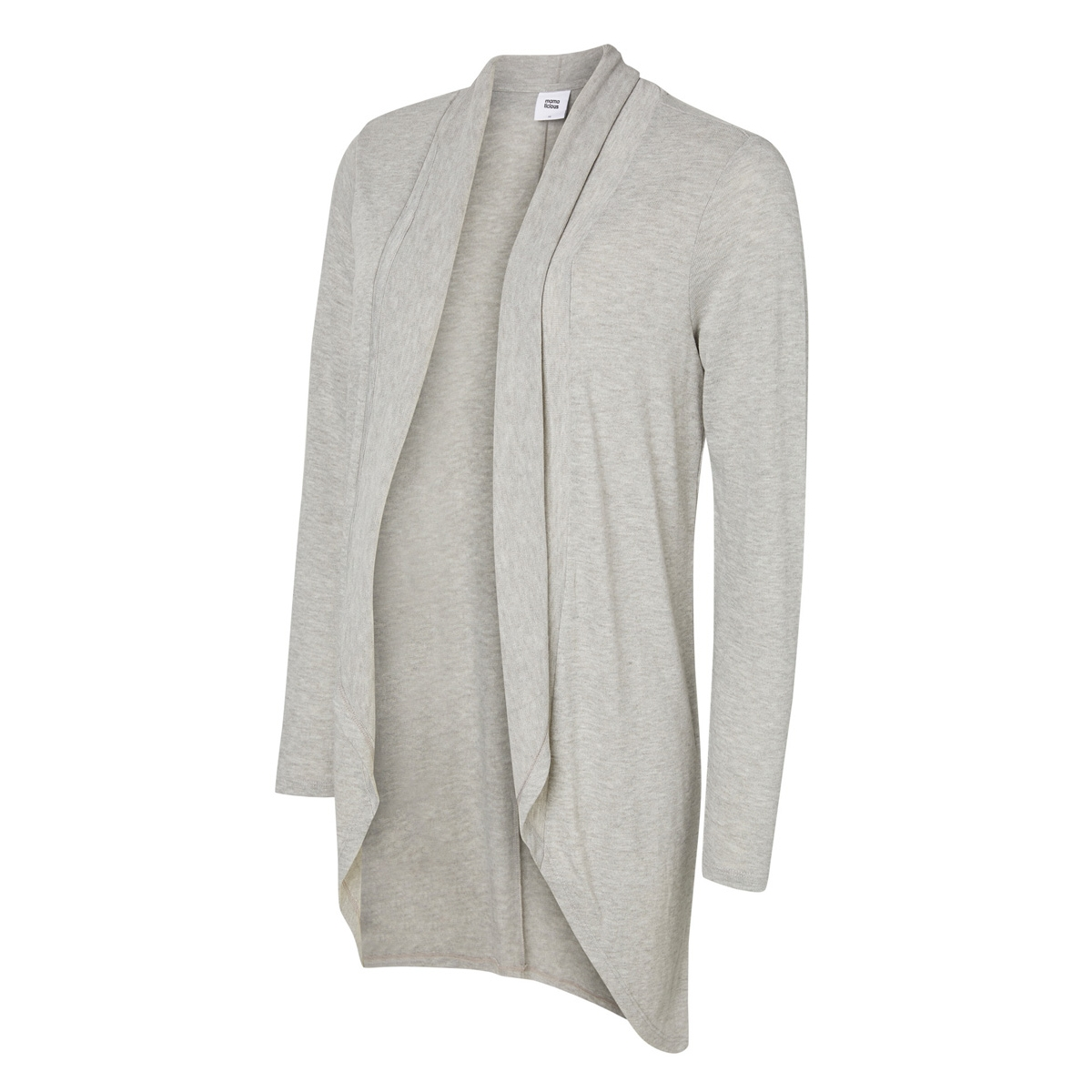 mlcharlot l/s knit cardigan 20003650 mama-licious positie vest light grey melange
