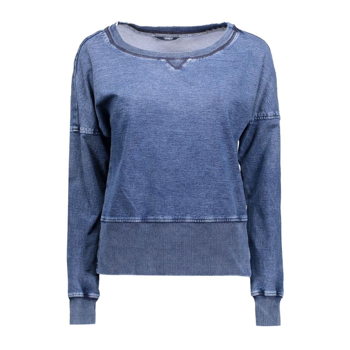 onljem l/s jog blouse dnm 15119418 only sweater medium blue denim