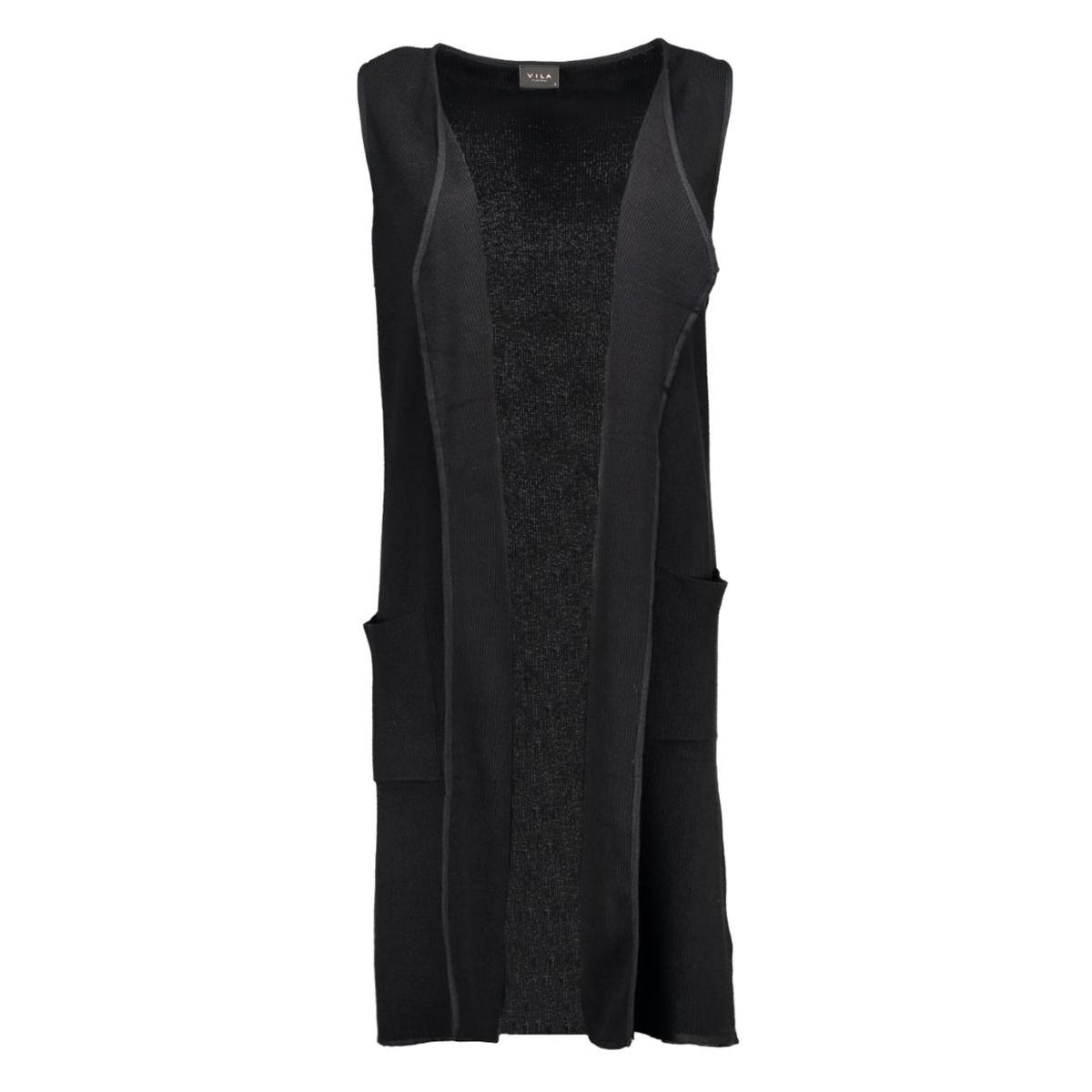 viandrea knit waistcoat 14035655 vila vest black