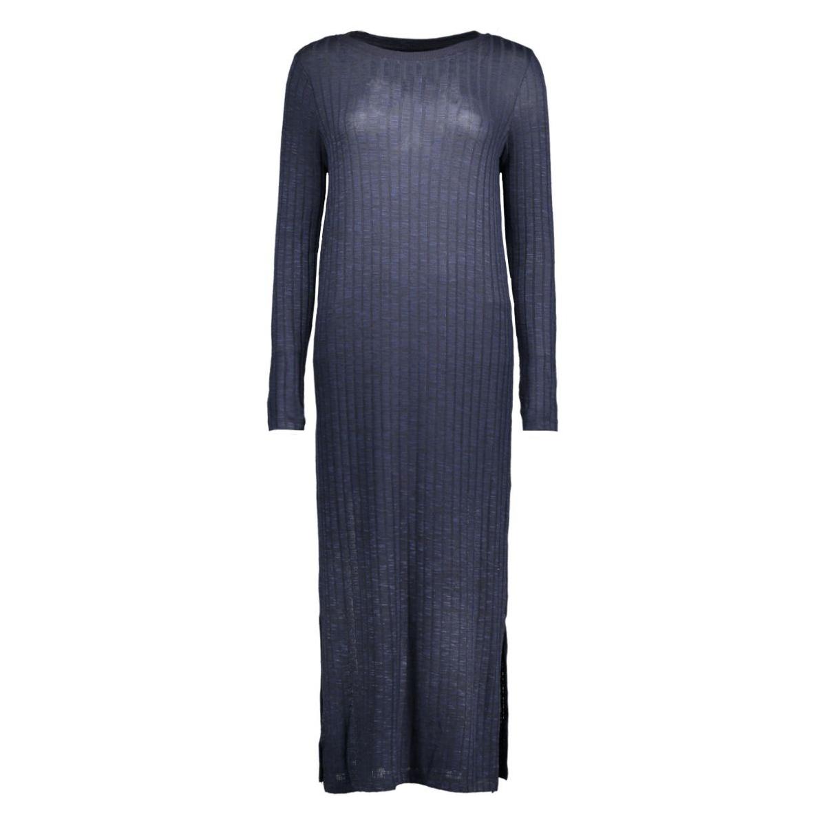 vmnille ls dress 10162500 vero moda jurk navy blazer/melange w.