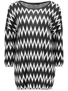 onlnadeen 3/4 oversize pullover knt 15123476 only trui black/w. cloud d
