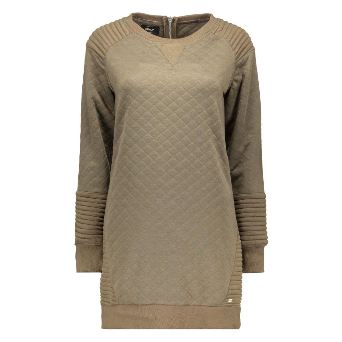 onlgilda l/s dress swt 15125137 only jurk tarmac/solid