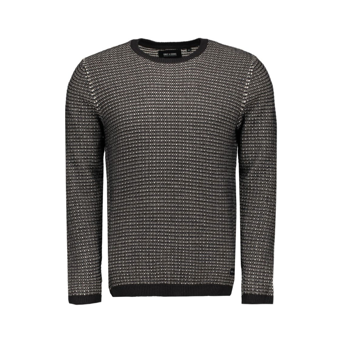 onsdawson crew neck knit 22003736 only & sons trui black