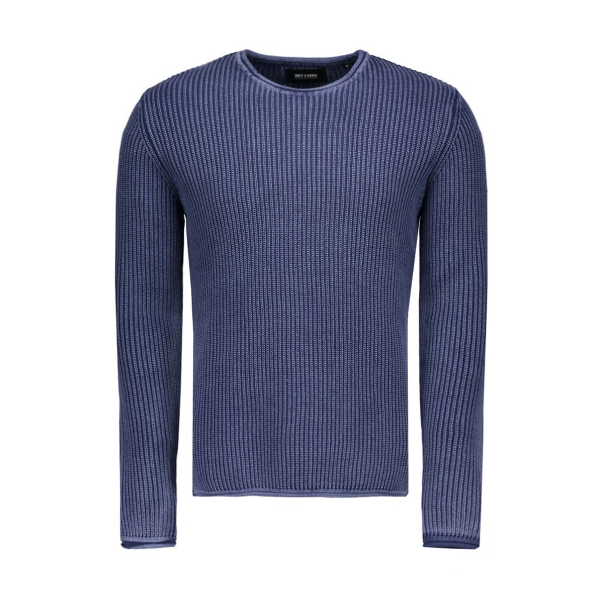 onssato washed crew neck knit 22004335 only & sons trui dark navy