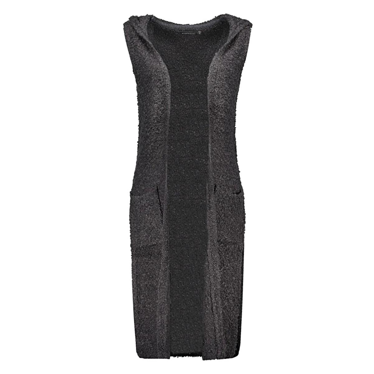 onlnew zadie s/l hood waistcoat knt 15121240 only vest dark navy/ w. black m