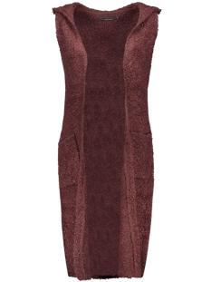 onlnew zadie s/l hood waistcoat knt 15121240 only vest fudge/w. black m