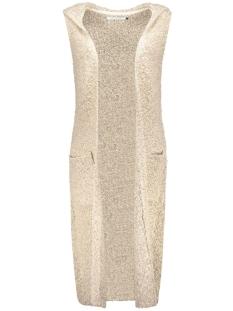onlnew zadie s/l hood waistcoat knt 15121240 only vest prumice stone/w. black m