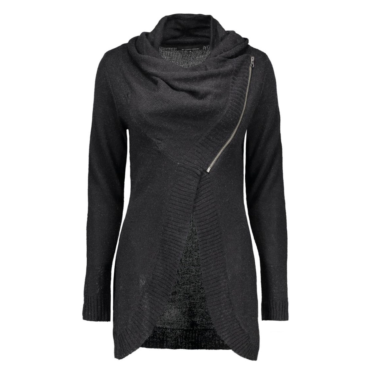 onlnew hayley l/s zip cardigan knt 15100922 only vest black