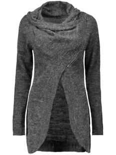 Only Vest onlNEW HAYLEY L/S ZIP CARDIGAN KNT 15100922 Dark Grey Melange