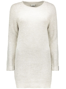 Noisy may Jurk NMSIESTA L/S O-NECK KNIT DRESS 10155358 oatmeal