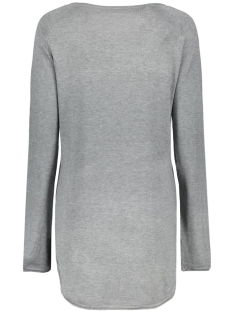onlmila lacy l/s long pullover knt 15109964 only trui medium grey melange
