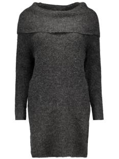 onlbergen l/s dress knt 15126038 only jurk dark grey melange