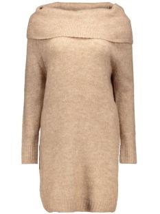 onlbergen l/s dress knt 15126038 only jurk tobacco brown/w melange