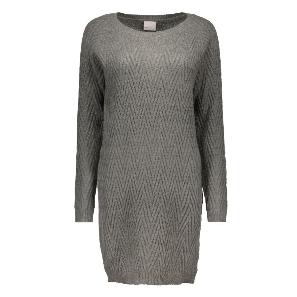 vmposh ls dress noos 10163894 vero moda jurk dark grey melange