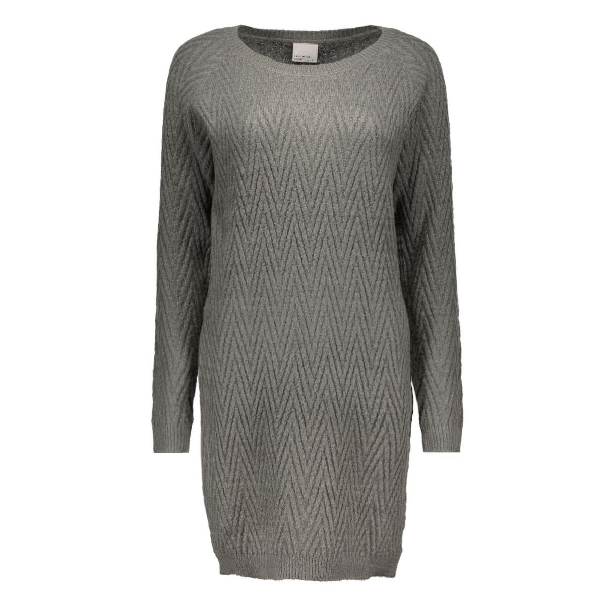 vmposh ls dress noos 10163894 vero moda jurk dark grey melange