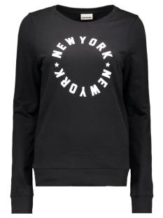 nmpana l/s sweat 10167026 noisy may sweater black/white