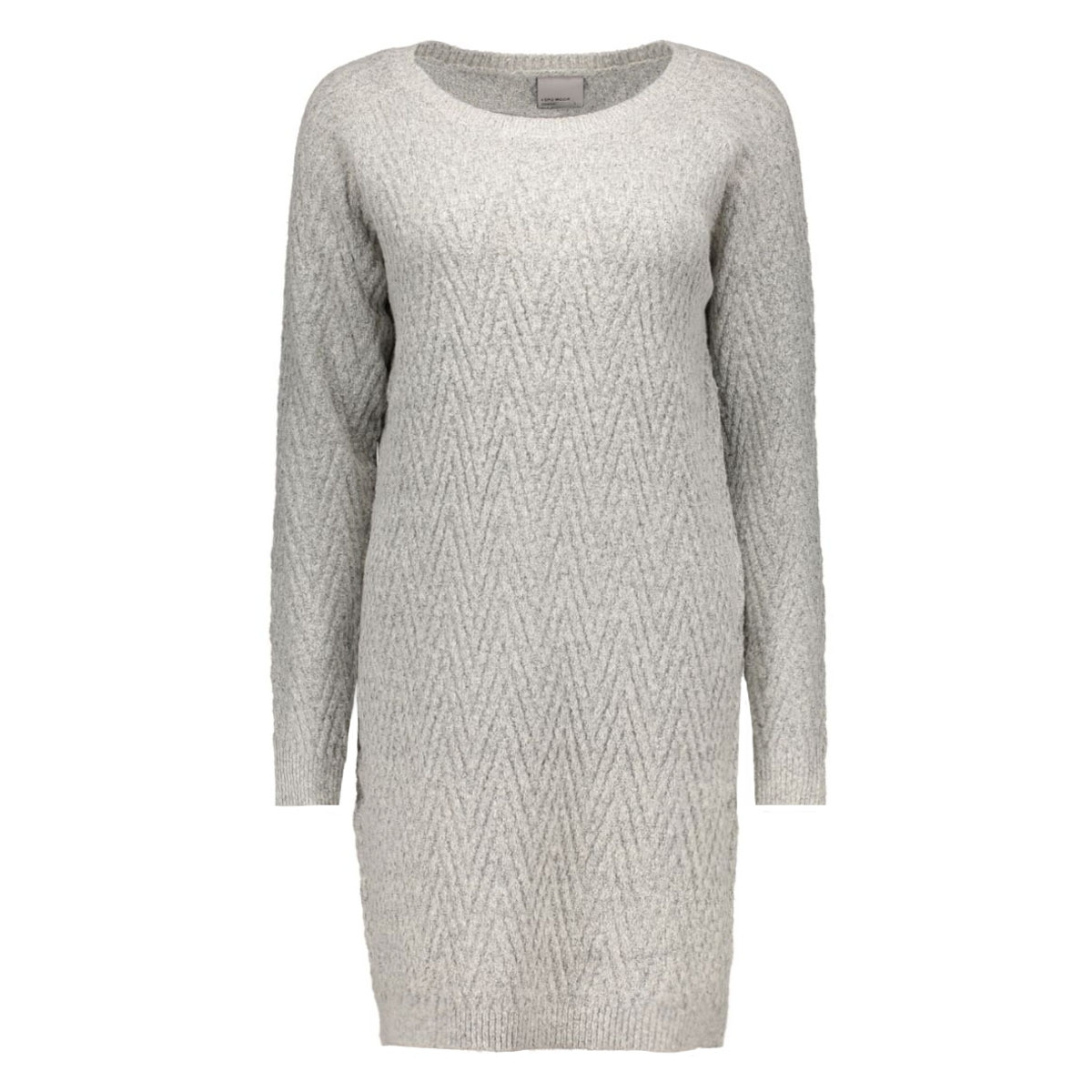 vmposh ls dress noos 10163894 vero moda jurk light grey melange