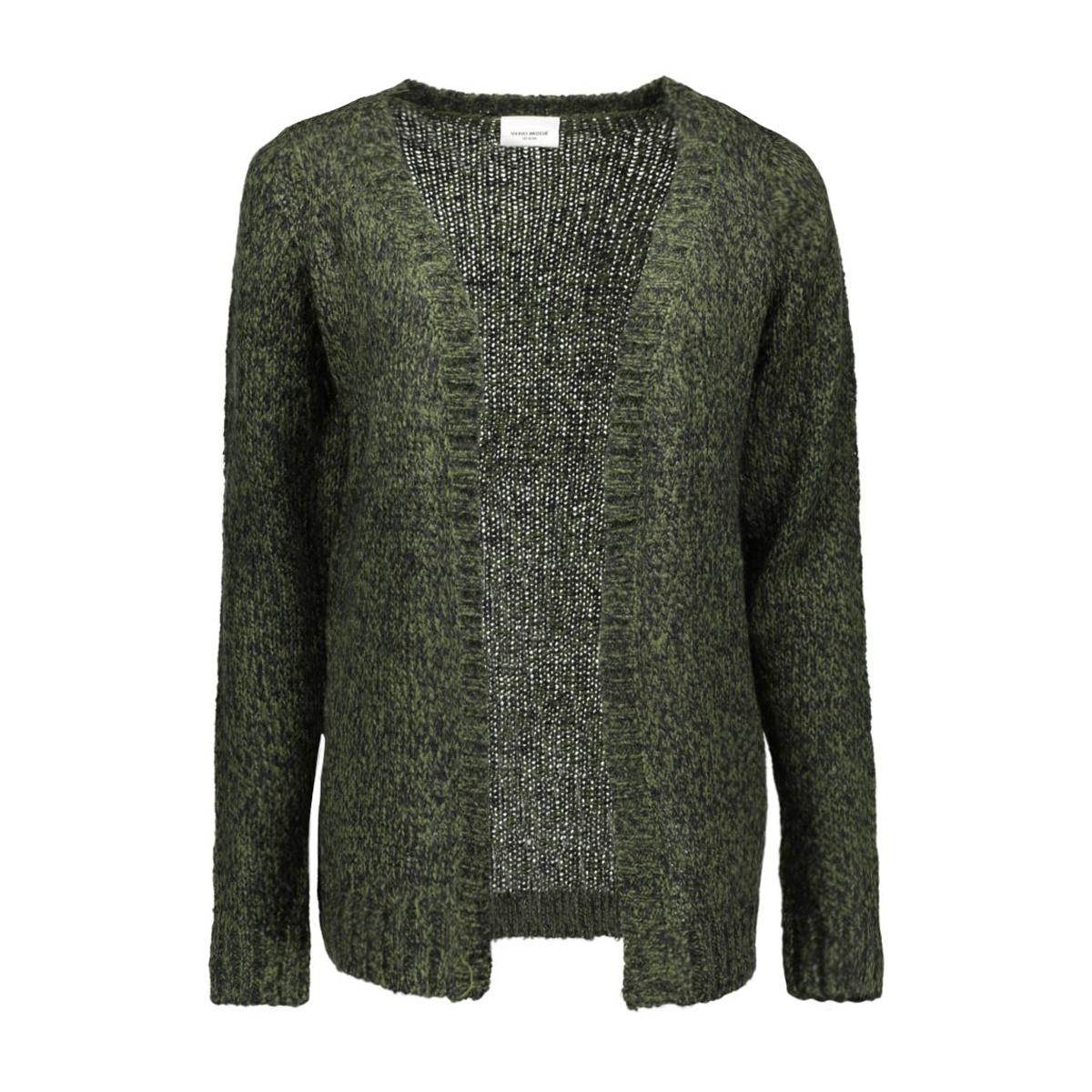 vmcamille ls cardigan dnm 10158025 vero moda vest kombu green