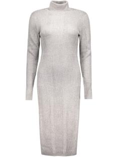 Vero Moda Jurk VMNIMBO LS ROLLNECK SLIT DRESS 10157963 Light Grey Melange